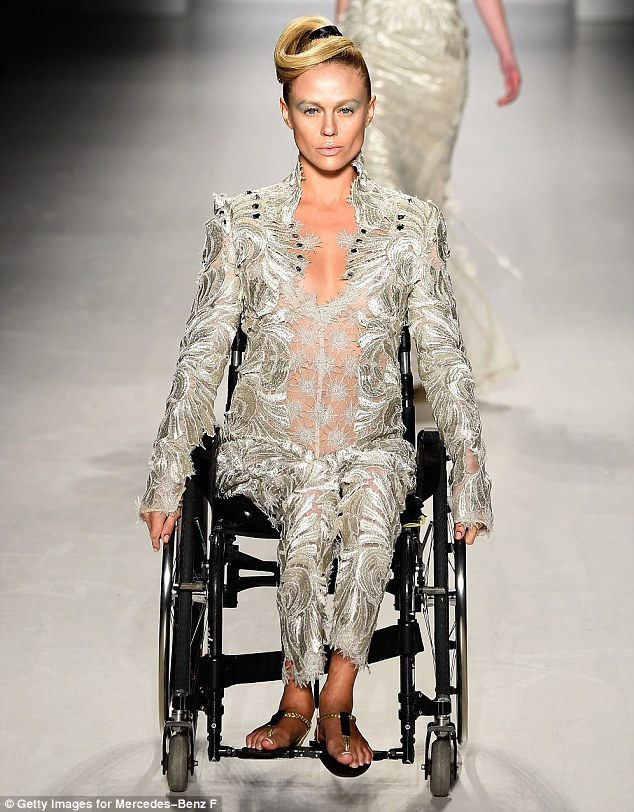 Models took to the catwalk in wheelchairs at FTL Moda's AW15 show